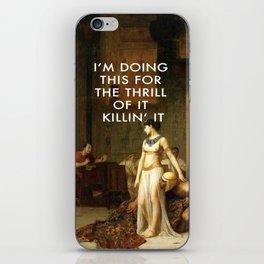 Cleopatra Killin' It iPhone Skin