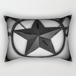 Texas - Black And White Rectangular Pillow