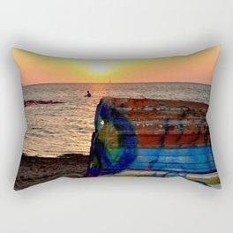sunset ( Nubia)  Trapani Sicily Rectangular Pillow