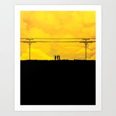 To the prison Art Print