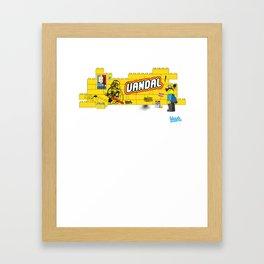 LEGO STREET ART Framed Art Print