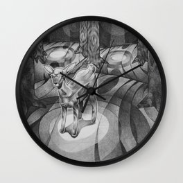 Alone in the woods Wall Clock