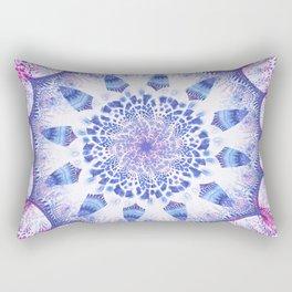 Mandala Flower Violet Art Rectangular Pillow