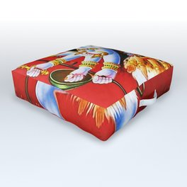 Hindu Kali 15 Outdoor Floor Cushion