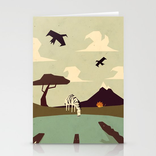 Z is for Zebra Stationery Cards