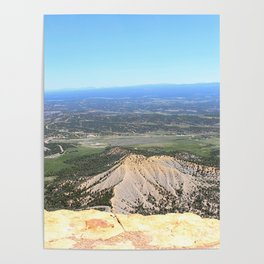 View from the top of Mesa Verde Poster