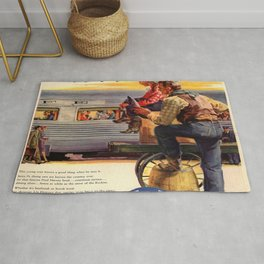 Vintage poster - Gee, that's Eatin' Rug