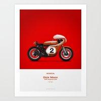honda Art Prints featuring Honda CR750 by GarageProject101
