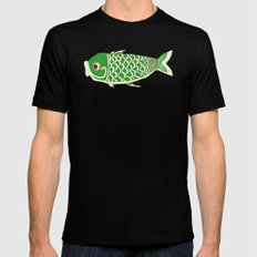 Koi Green MEDIUM Black Mens Fitted Tee