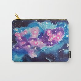 Tiny Astronaut and the Blue Nebula Carry-All Pouch
