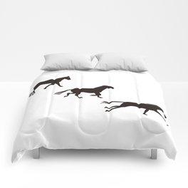 a horse runs Comforters