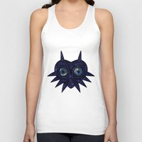 majoras mask Tank Tops featuring Majora's mask galaxy by Pocketmoon designs