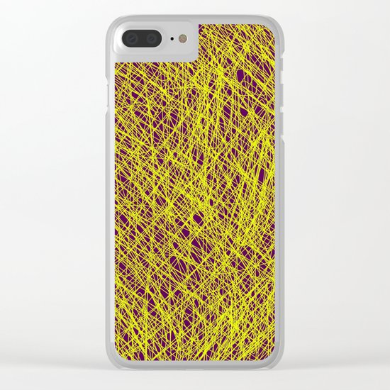 Expressive Yellow (Abstract, purple and yellow) Clear iPhone Case