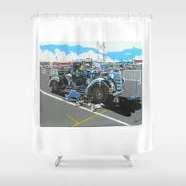 lets get it started Shower Curtain