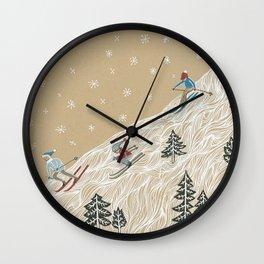 Ole Man Winter Wall Clock