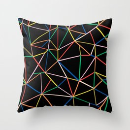 Ab Out Color B Throw Pillow