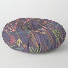 Rainbow Flora & Stems - Purple Floor Pillow