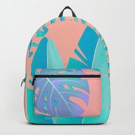 Tropics ( monstera and banana leaf pattern ) Backpack