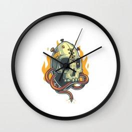 Skull Fire Wall Clock