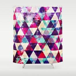 "Retro Geometrical Abstract Design ""Josephine"" inspired Shower Curtain"
