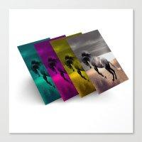 popart Canvas Prints featuring PopArt HORSE by MehrFarbeimLeben