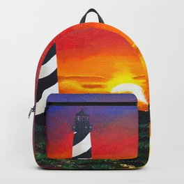 Cape Hatteras Lighthouse Painting Backpack