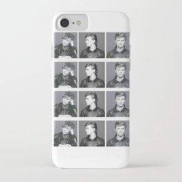 Monochrome Magnificence: Bowie iPhone Case
