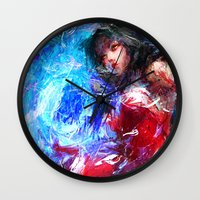 league of legends Wall Clocks featuring League of Legends - Ahri by Raditya Giga