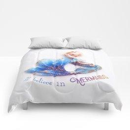 I believe in mermaids Comforters