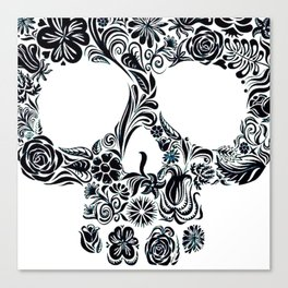 Skull (white) Canvas Print