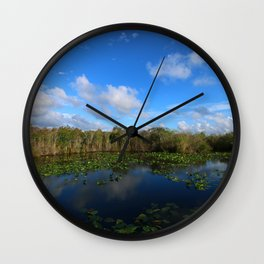 Blue Hour In The Everglades Wall Clock