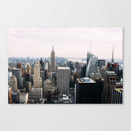 New York skyline from Top of the Rock Canvas Print