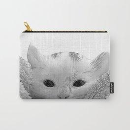 kitten in a blanket b&w Carry-All Pouch