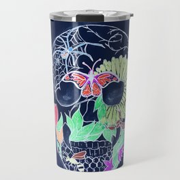 Chalk Art Skull Travel Mug