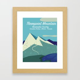 Threepoint Mountain Canada travel poster. Framed Art Print