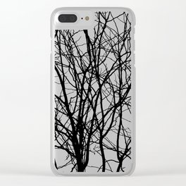 Tree Branches in B&W Clear iPhone Case