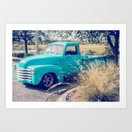Chevy Truck by the Road Art Print