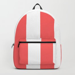 Classic Modern Retro 60s Red Stripe Pattern Backpack