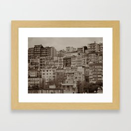Apartment blocks (Istanbul, TURKEY) Framed Art Print