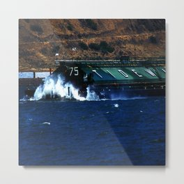 Columbia River Barge Metal Print