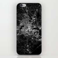 houston iPhone & iPod Skins featuring Houston map by Line Line Lines