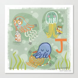 """J"" Canvas Print"
