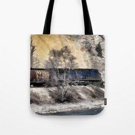 Rocky Mountain Ranger Train Tote Bag