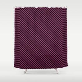 Festival Fuchsia and Black Stripe Shower Curtain