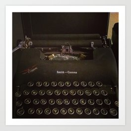 Smith-Corona Typewriter Art Print