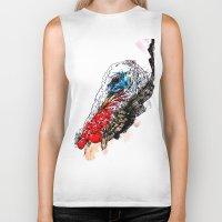 turkey Biker Tanks featuring Jive Turkey by Stacey Johnson Illustration