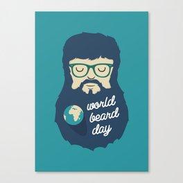 World Beard Day Canvas Print