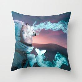 glowing butterflies Throw Pillow