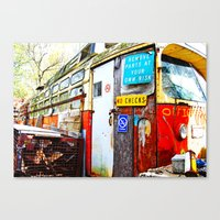 office Canvas Prints featuring Office by hannahhart