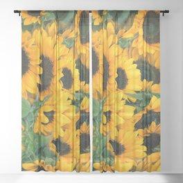 Sunflowers Sheer Curtain